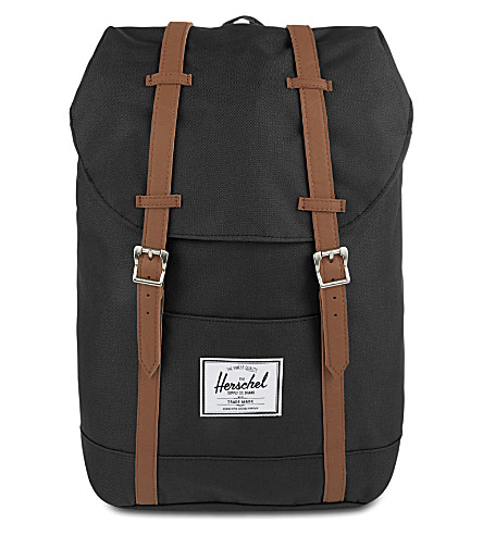 HERSCHEL SUPPLY CO Retreat backpack (Black/tan syn leather