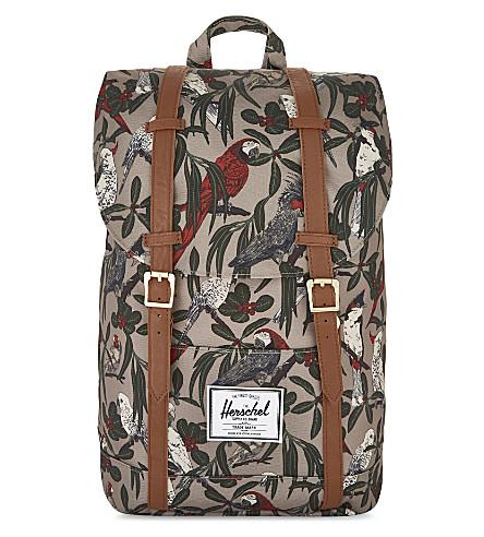 HERSCHEL SUPPLY CO Retreat printed backpack (Brindle+parlour/tan
