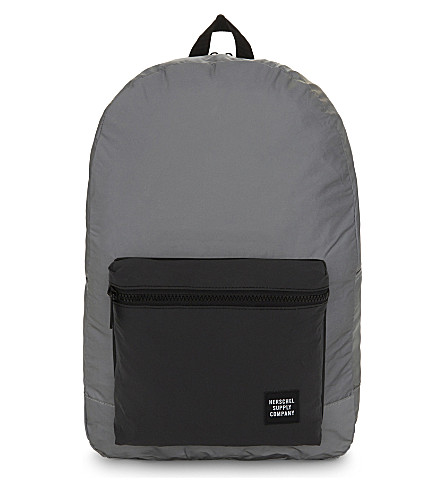 HERSCHEL SUPPLY CO Day/Night Packable Daypack reflective backpack (Silver/black+reflect