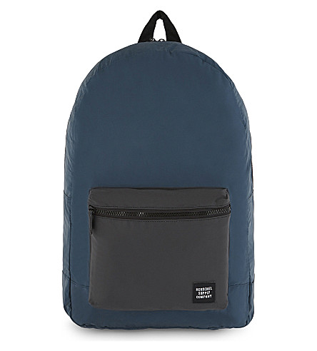 HERSCHEL SUPPLY CO Reflective packable backpack (Blue/black+reflect