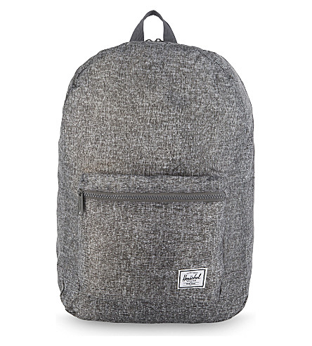 HERSCHEL SUPPLY CO Packable backpack (Raven+crosshatch