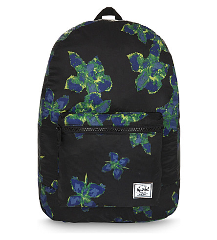 HERSCHEL SUPPLY CO Packable Daypack backpack (Neon+floral
