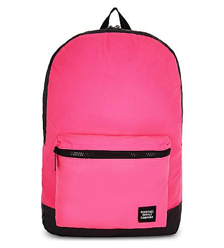 HERSCHEL SUPPLY CO Reflectivepackable backpack (Neon+pink+/black