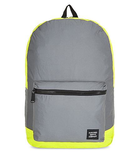 HERSCHEL SUPPLY CO Reflective packable backpack (Silver/neon+yellow