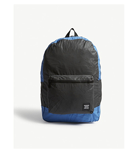 HERSCHEL SUPPLY CO Packable backpack (Black+reflective