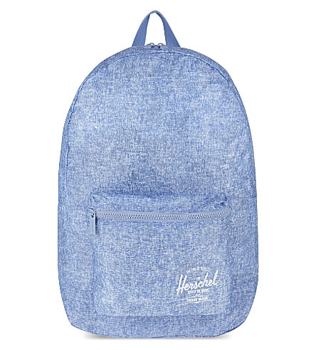HERSCHEL SUPPLY CO Packable Daypack backpack (Chambray crosshatch