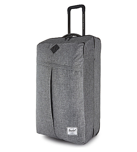 HERSCHEL SUPPLY CO Parcel XL four wheel luggage case 81cm (Raven+crosshatch