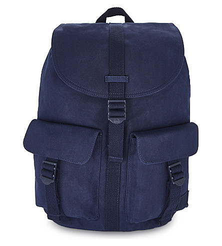 HERSCHEL SUPPLY CO Dawson cotton canvas backpack (Peacoat