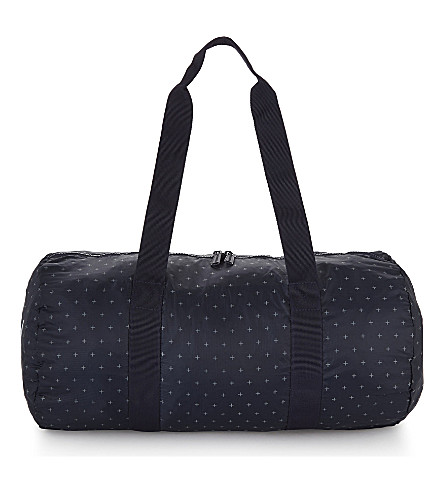 HERSCHEL SUPPLY CO Packable cross-print duffel bag (Peacoat+gridlock