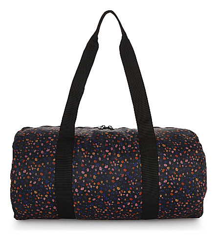 HERSCHEL SUPPLY CO Packable floral-print duffel bag (Black+mini+floral