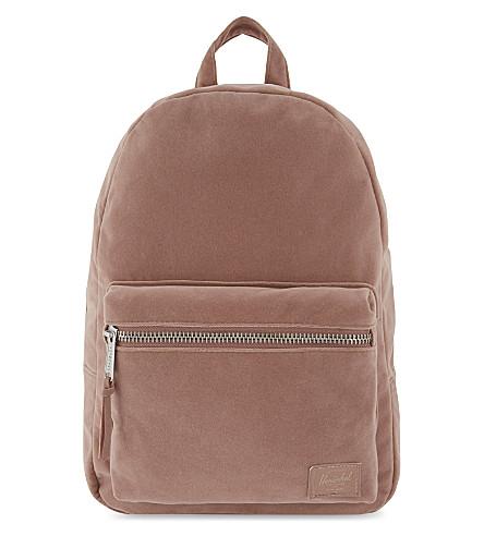 HERSCHEL SUPPLY CO Grove extra-small velvet backpack (Ash+rose