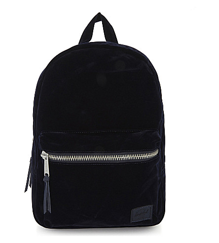 HERSCHEL SUPPLY CO Grove extra-small velvet backpack (Peacoat