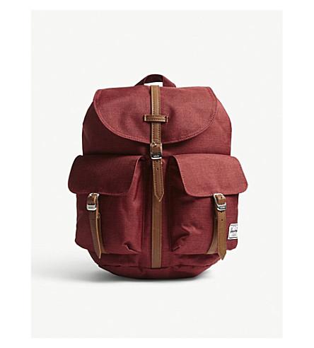 HERSCHEL SUPPLY CO Dawson extra-small backpack (Winet+crosshatch/tan