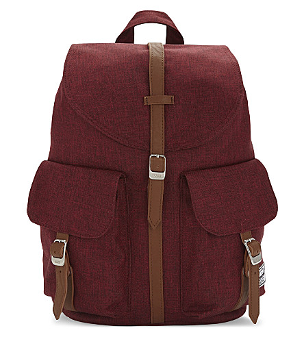 HERSCHEL SUPPLY CO Dawson extra-small backpack (Wine+xhatch/tan
