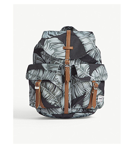 pequeña HERSCHEL Mochila SUPPLY extra palm Black Dawson tan CO apqzpfI