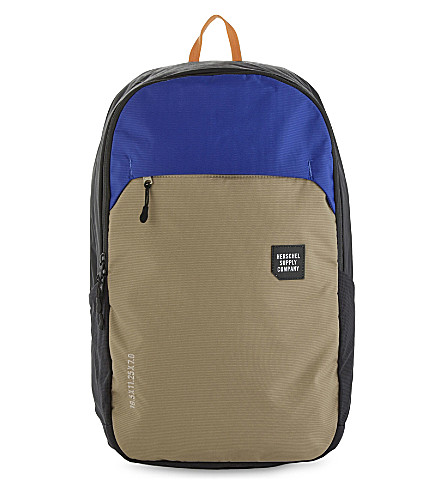 HERSCHEL SUPPLY CO Mammoth large nylon backpack (Blk/brindle/surf