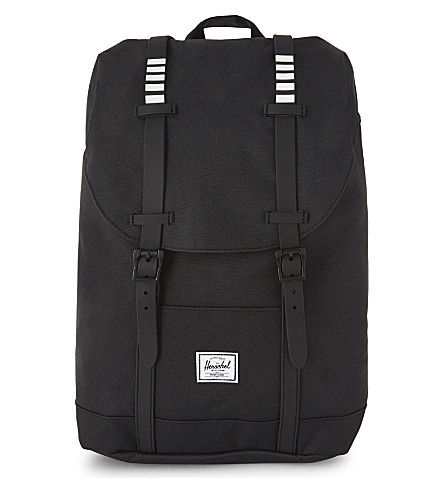 HERSCHEL SUPPLY CO Retreat backpack (Blk/blk+rubb/white+inset