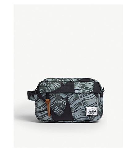 HERSCHEL SUPPLY CO - Chapter palm leaf canvas toiletry bag ... c8881af0ee