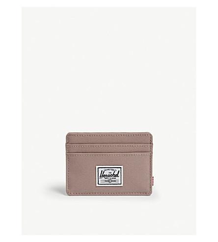HERSCHEL SUPPLY CO Charlie rfid-blocking canvas card holder (Ash+rose