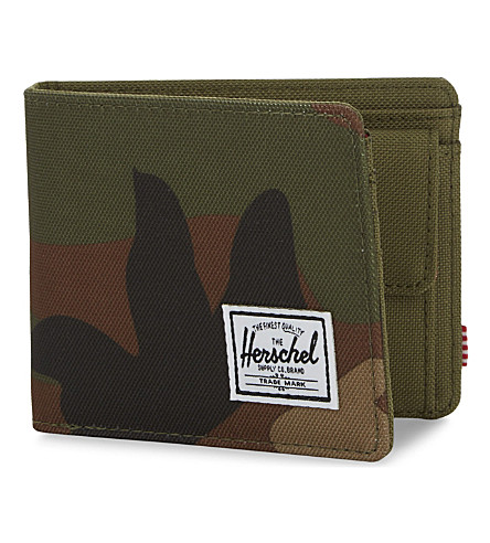HERSCHEL SUPPLY CO Roy canvas camouflage-print RFID wallet (Woodland+camo/army