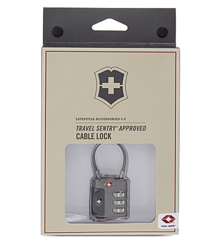 VICTORINOX Cable combination lock (Grey