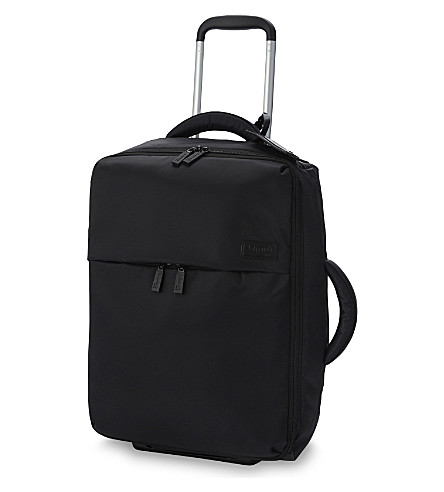LIPAULT 0% pliable two-wheel cabin suitcase 55cm (Black