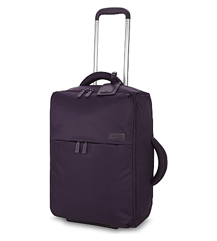 LIPAULT 0% pliable two-wheel cabin suitcase 55cm (Purple