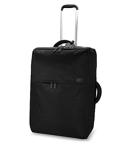 LIPAULT 0% pliable two-wheel cabin suitcase 65cm (Black