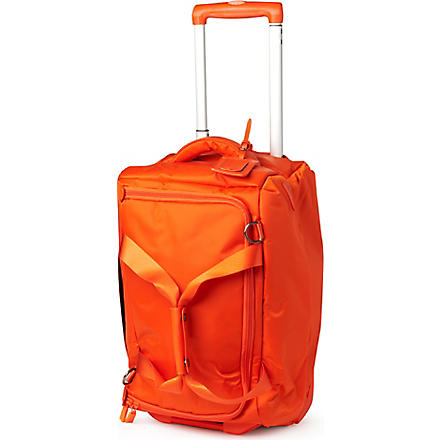 LIPAULT Foldable wheeled duffel bag (Orange