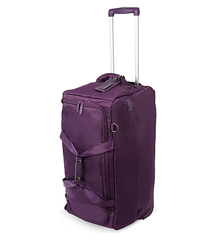 LIPAULT Foldable two-wheel duffel bag 68cm (Purple