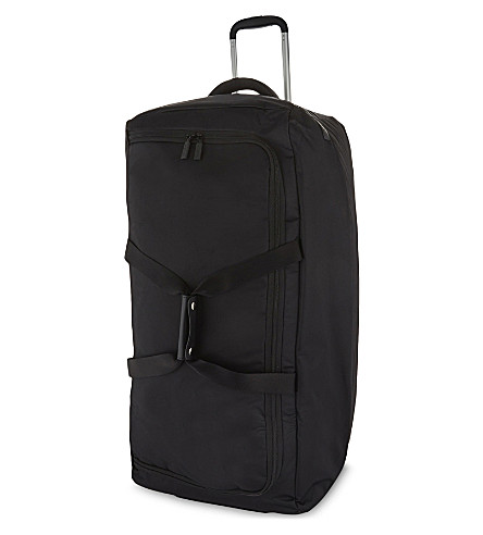 LIPAULT Foldable wheeled duffel bag 78cm (Black