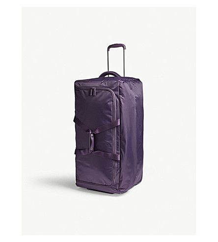 LIPAULT Foldable wheeled duffel bag 55cm (Purple