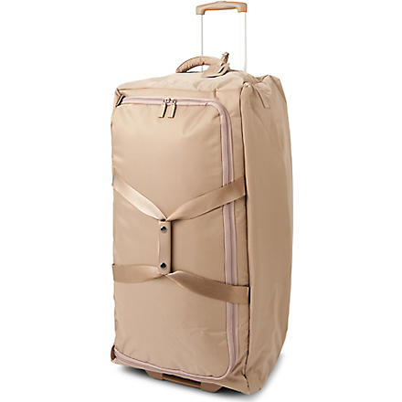 LIPAULT Foldable wheeled duffel bag (Sand