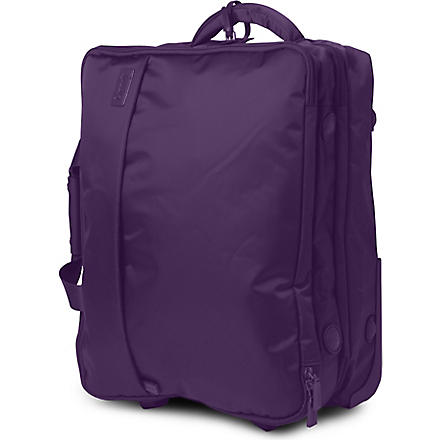 LIPAULT Foldable two-wheel cabin suitcase with garment bag 50cm (Purple