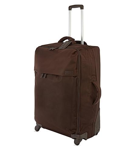 LIPAULT Four-wheel trolley suitcase 55cm (Choco