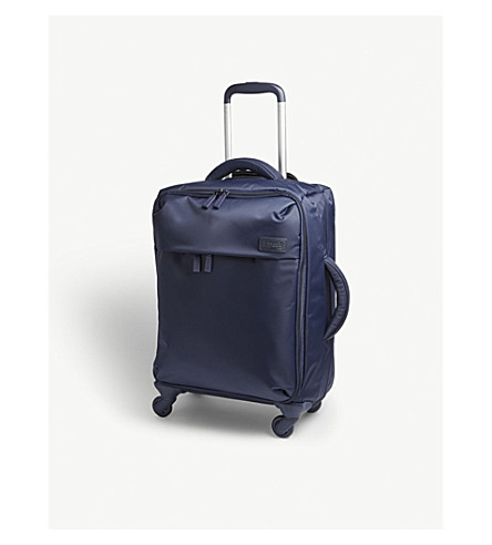 LIPAULT Foldable four-wheel suitcase 55cm (Navy