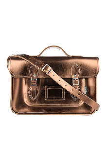 ZATCHELS Metallic leather satchel