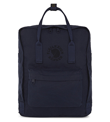 FJALLRAVEN Re-Kånken backpack (Midnight+blue
