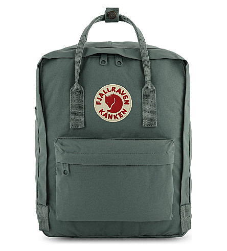 FJALLRAVEN Kånken medium nylon backpack (Frost+green