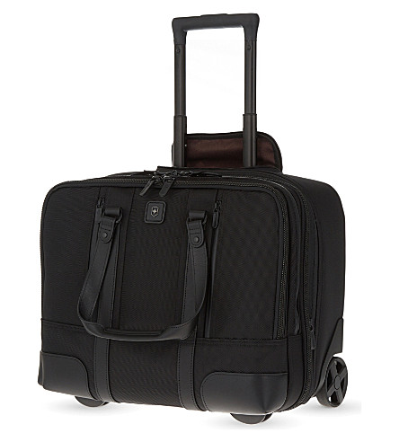 VICTORINOX Centrury two-wheel expandable laptop suitcase 36cm (Black