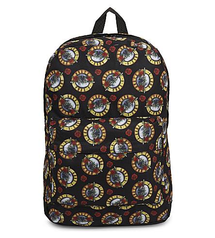 ROCK SAX Guns 'n' Roses print backpack (Roses+allover