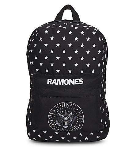 ROCK SAX Ramones logo star print backpack (Star+seal
