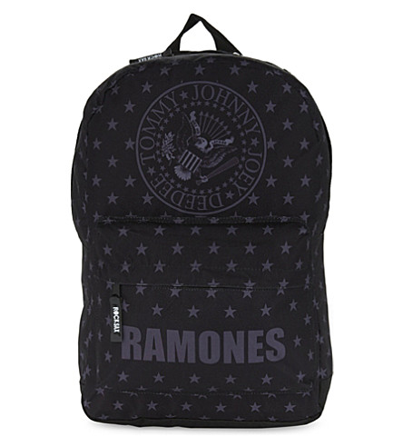 ROCK SAX Ramones print nylon backpack (Blitzkreig