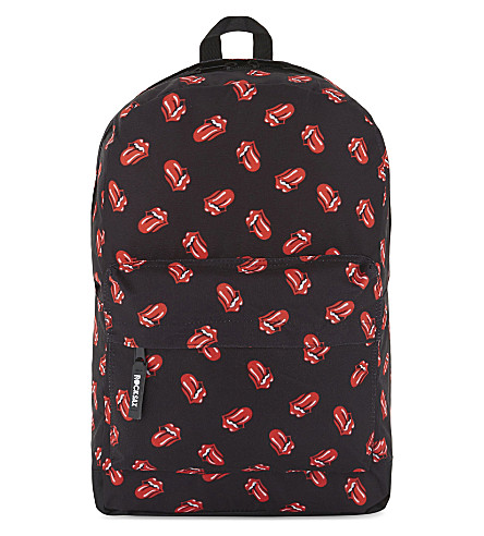 ROCK SAX Rolling Stones tongue logo print backpack (Allover