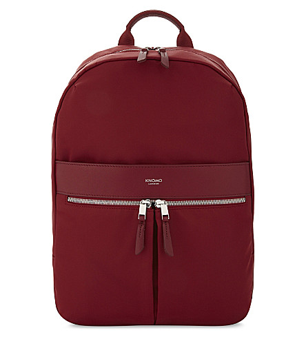 KNOMO Mayfair Beauchamp nylon backpack (Cherry