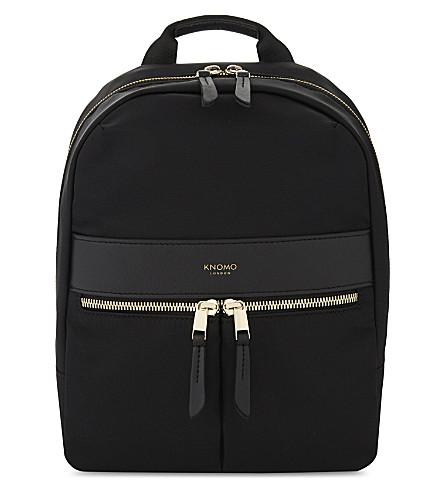 KNOMO Mayfair Beauchamp mini nylon backpack (Black