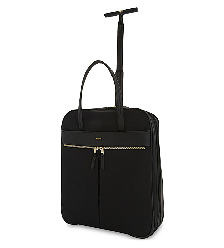 KNOMO Mayfair Burlington nylon two-wheel briefcase 38cm (Black