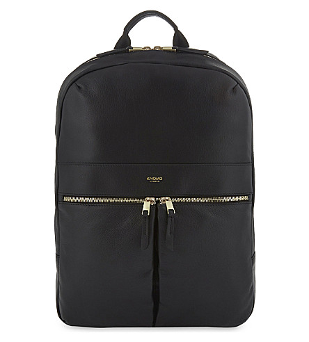 KNOMO Mayfair Beaux leather backpack (Black