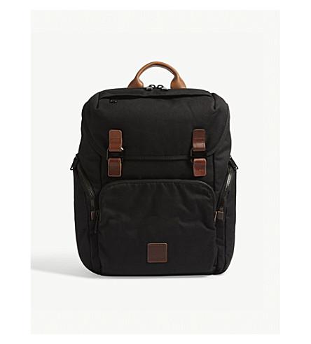KNOMO Live Free laptop backpack (Black/tan