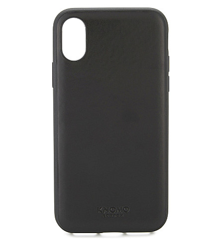 KNOMO Snap-on leather iPhone 7/8 case (Black